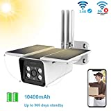 FUVISION Solar Powered Wireless Outdoor 1080P Home Security Camera,2.4G WiFi Camera,IP66...