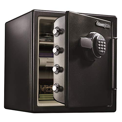 SentrySafe SFW123EU Fireproof Waterproof Safe with Digital Keypad, 1.23...