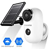 Battery Security Camera Wireless - Solar Powered IP Camera Outdoor 1080P HD Rechargeable Battery...