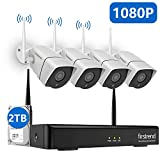 1080P Wireless Security Camera System, Firstrend 8CH Wireless NVR System with 4pcs 1080P Security IP...