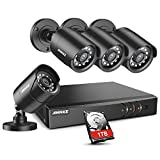 ANNKE 8CH H.264+Security Camera System with 4pcs 1080P 1920TVL Wired CCTV Cameras, IP66 Weatherproof...
