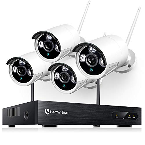 HeimVision HM241 Wireless Security Camera System, 8 Channel NVR 4Pcs 1080P Home WiFi Security Camera...