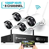 HeimVision HM241 1080P Wireless Security Camera System, 8CH NVR 4Pcs Outdoor WiFi Surveillance...