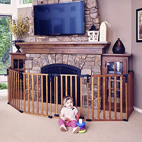 Toddleroo by North States 3 in 1 Wood Superyard: 151' Long Extra Wide Baby...