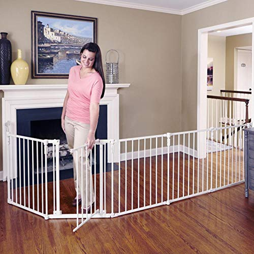 Toddleroo by North States 3 in 1 Metal Superyard: 144' long extra wide baby...