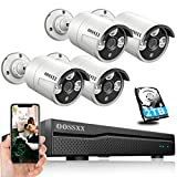 OOSSXX POE Home Security Camera System, Outdoor Wired H.265 8CH Recorder,...