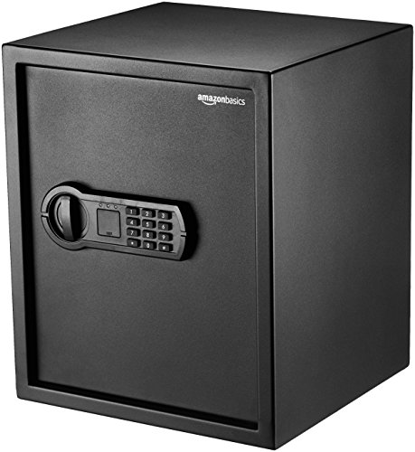 Amazon Basics Home Keypad Safe - 1.52 Cubic Feet, 13.8 x 13 x 16.5 Inches,...