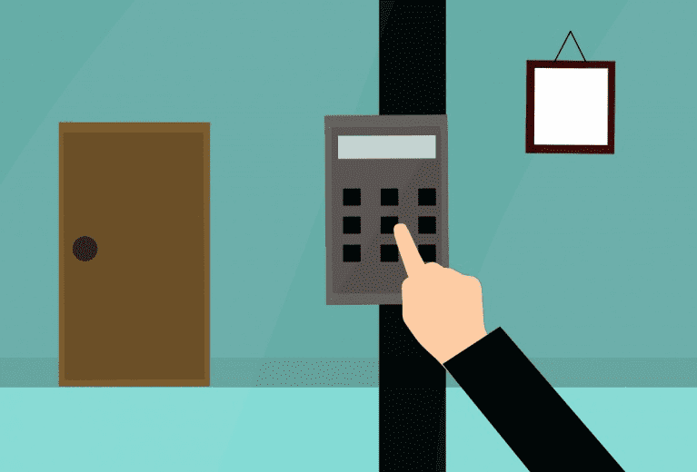 a access control where people and employees can securely get in the building