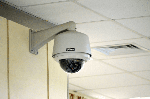 Security camera inside the building