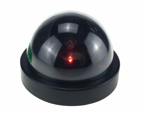 A Black Fake Security Camera With Led