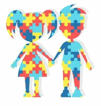 A Illustration of autism children