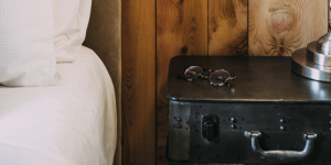 a nightstand for gun safe
