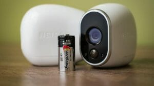 battery and security camera