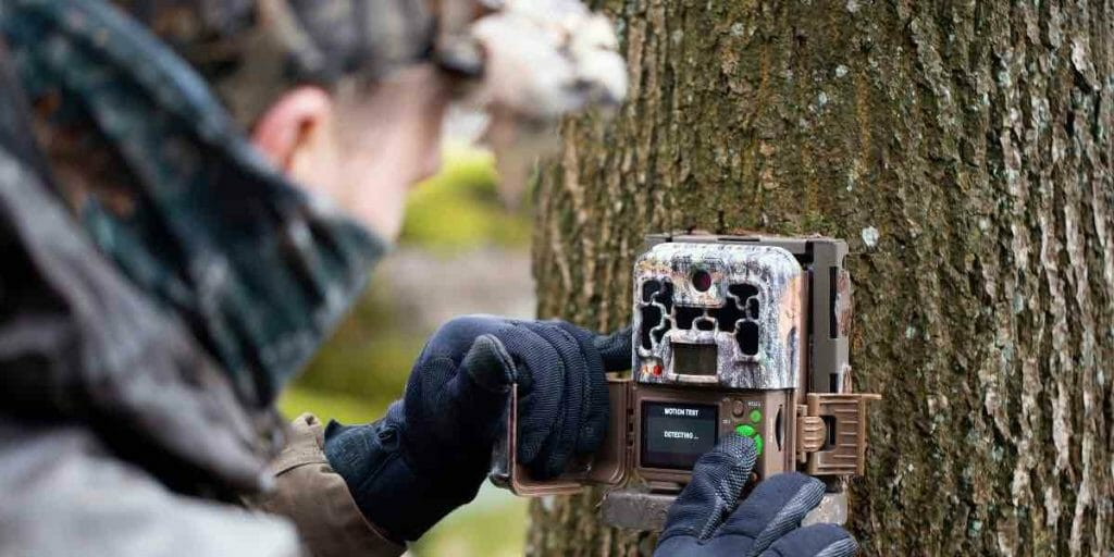 a man and his trail camera