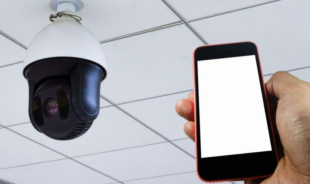 security camera on mobile app