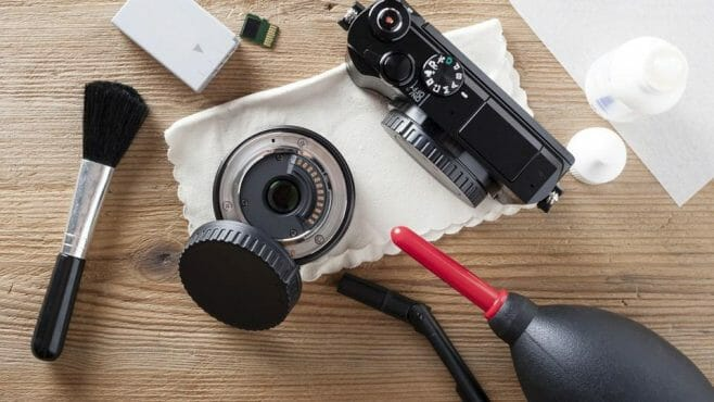 cleaning camera