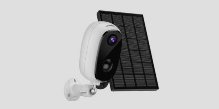 Solar Powered Outdoor Security Cameras Wireless, ZUMIMALL Solar Panel